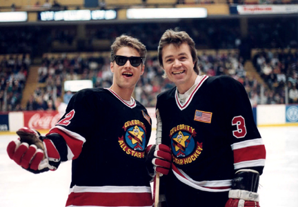 Jason Priestly - Jason Priestley and Gary Webb on the ice in Chicago discussing strategy.